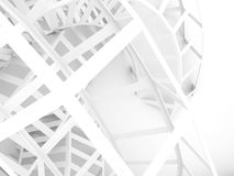 Abstract white digital background, wire structure Royalty Free Stock Photos