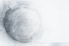 Abstract white digital technology background Stock Photo