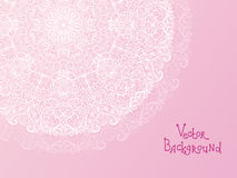 Abstract white doily vignette background Stock Images