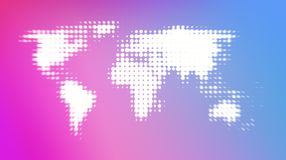 Abstract world map on colorful background royalty free illustration