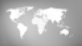 Abstract world map on gray background vector illustration