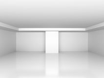 Abstract white empty interior background. 3d render illustration Stock Photo
