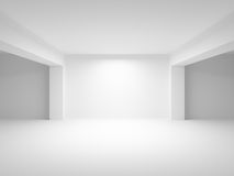Abstract white empty interior background. Abstract white empty interior perspective background. 3d illustration Royalty Free Stock Photography