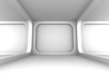 Abstract White Empty Interior Design Background Stock Image