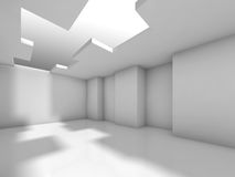 Abstract white empty interior, digital 3d. Abstract white empty interior background, digital 3d illustration Stock Image