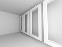 Abstract White Empty Room Background Stock Image