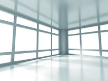 Abstract White Empty Room Interior Background. 3d Render Illustration royalty free illustration