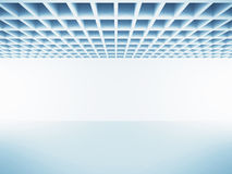 Abstract White Empty Room Interior Background. 3d Render Illustration stock illustration