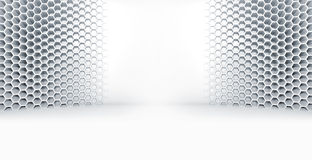 Abstract white empty room interior with spot light Stock Photography