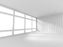 Abstract White Empty Room With Window. 3d Render Illustration Royalty Free Stock Photo