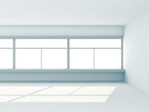 Abstract White Empty Room With Window Royalty Free Stock Photography