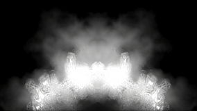 Abstract white flames over black. HD 1080. stock video