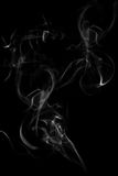 Abstract white flowing smoke background Stock Image