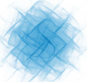 Abstract white folded background. Blue fractal fabric texture. T Royalty Free Stock Photos