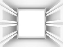 Abstract white frame architecture background Stock Photo