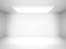 Abstract White Futuristic Interior Background Stock Photography