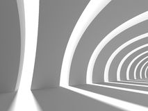 Abstract White Futuristic Modern Architecture Background. 3d Render Illustration Royalty Free Stock Photo