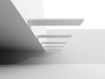 Abstract White Futuristic Modern Architecture Background. 3d Render Illustration Vector Illustration
