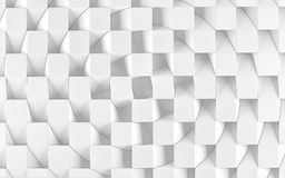 Abstract white geometric background. 3 D render. Ing Stock Photography