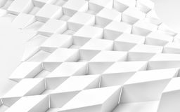 Abstract white geometric background. 3 D render. Ing Stock Illustration