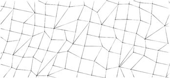 Abstract white geometric 3D low polygonal background. Stock Image