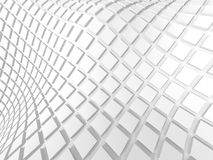 Abstract White Geometric Pattern Background. 3d Render Illustration Stock Photo