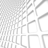 Abstract White Geometric Pattern Background. 3d Render Illustration Stock Photography