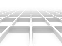 Abstract White Geometric Pattern Background Stock Image