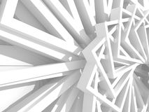 Abstract White Geometric Pattern Background Royalty Free Stock Photography