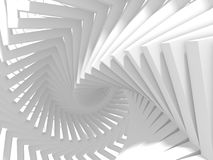 Abstract White Geometric Pattern Background. 3d Render Illustration Royalty Free Stock Image