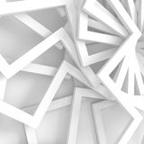 Abstract White Geometric Pattern Background. 3d Render Illustration Stock Photos