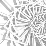 Abstract White Geometric Pattern Background. 3d Render Illustration Royalty Free Stock Photos