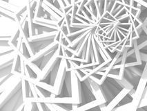 Abstract White Geometric Pattern Background. 3d Render Illustration Royalty Free Stock Photography
