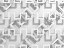 Abstract White Geometric Pattern Background. 3d Render Illustration Royalty Free Stock Images