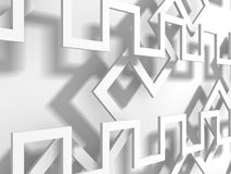 Abstract White Geometric Pattern Background. 3d Render Illustration Stock Images
