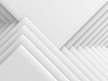 Abstract White Geometric Pattern Background. 3d Render Illustration Royalty Free Stock Photo