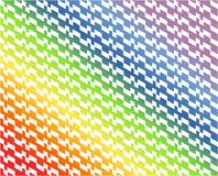 Abstract white geometric pattern on gradient rainbow colored colorful background - Vector illustration. Use as background, backdrop, montage, or texture in royalty free illustration