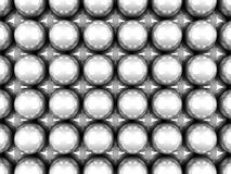 Abstract White Glossy Spheres Background Stock Images