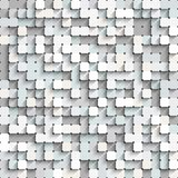 Abstract white and gray background with mosaic. Stock Photo