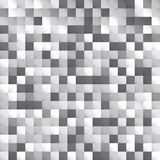 Abstract white and gray squares pattern pixel background design. For print, ad, poster, flyer, cover, brochure, template, Vector illustration Stock Illustration