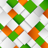 Abstract white and green orange square background Royalty Free Stock Photography