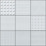 Abstract white and grey rectangle geometric bricks Royalty Free Stock Images