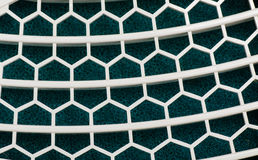 Abstract white grid pattern on sponge backgrounds Stock Photography