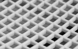 Abstract white grid Stock Image