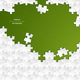 Abstract white group puzzle with green  background Royalty Free Stock Images