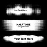 Abstract White Halftone Design Elements Royalty Free Stock Photos