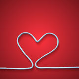 Abstract white heart. On the red background. Vector illustration. Plasticine modeling Royalty Free Stock Image