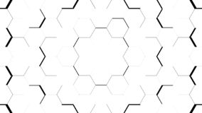 Abstract white hexagon geometric surface. Light bright clean minimal hexagonal grid pattern, background canvas in pure wall architectural white Vector Illustration