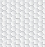 Abstract white hexagon pattern wallpaper Stock Photo