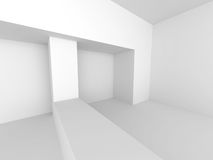 Abstract White Interior. Architecture Background Royalty Free Stock Photography